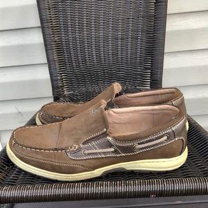 Nunn Bush men's brown slip on shoes
